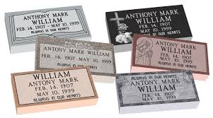 Flat Headstones With Vase Mf01 Flat Single Grave Marker Headstone 20