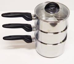 Kitchen Collections Appliances Small by Procter Silex Stainless Steel 2 Quart Triple Boiler 08230