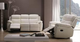 ensemble de canapé ensemble canapé de relaxation 2 et 3 places manuel cuir beige brak