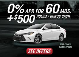 2016 toyota camry thanksgiving cyber monday deals 0 apr for 60