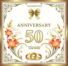 greetings for 50th wedding anniversary 50th wedding anniversary royalty free cliparts vectors and stock