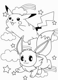 pokemon coloring pages cute pokemon pikachu coloring pages