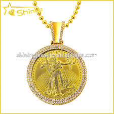 custom pendant mens yellow gold sterling silver custom lab diamond liberty coin
