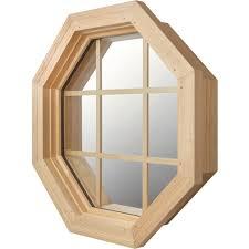 jjj specialty cabin light 4 season wood octagon window 01 111