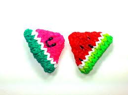 3 d happy watermelon slice tutorial by feelinspiffy rainbow loom