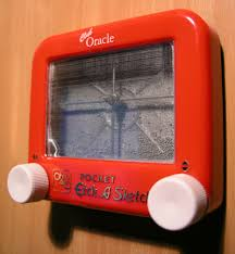 the history of the etch a sketch animated on an etch a sketch