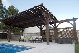 Solid Roof Pergola Kits by More Shade Plan Diy Solid Cedar Wood Cantilevered Pergola