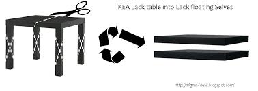 Lack Table Ikea Ikea Lack Table Into Lack Floating Selves 5 Steps