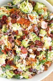 bacon sunflower seeds broccoli salad recipe easy and flavorful potluck salad
