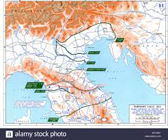 Ww2 Map Europe by Ww2 Europe Map Italy June Until December 1944 Stock Photo Royalty