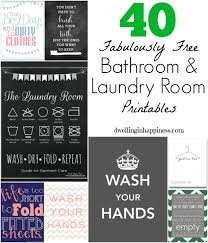 How To Keep Your Bathroom Dry 40 Fabulously Free Bathroom U0026 Laundry Room Printables Laundry
