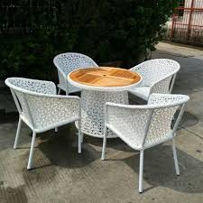 Wicker Patio Table Set Shop Set Of 5pcs Outsunny Table And Chair Rattan Wicker