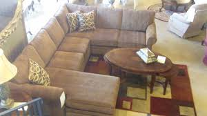 furniture modern living room design with beige leather sectional