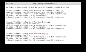sample bug report exporting your app for testing ios tvos watchos art 6 app thinning size report 2x png
