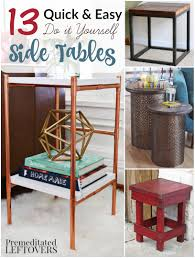 Diy Side Table 13 And Easy Diy Side Tables