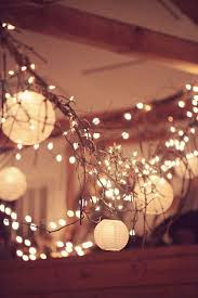 Paper Christmas Lights Christmas Lights Paper Lanterns And Branches