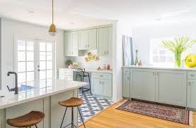 deco mur cuisine moderne cuisine verte mur meubles électroménager déco clematc