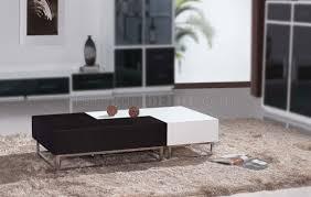 High Gloss Side Table Wenge U0026 High Gloss White Modern 2pc Coffee Table