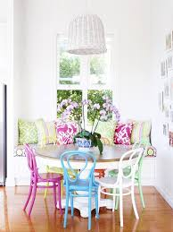 colorful dining table 15 dining rooms with brilliantly colorful chairs kitchn