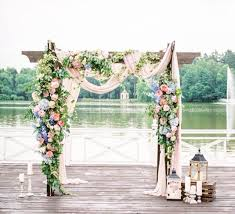 wedding arbors pink blue garland for mandap curtain tie packs should be thinner