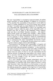 responsibility and technology the expanding relationship springer