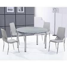 table ronde et chaises ensemble table ronde en verre dépoli 4 chaises achat vente