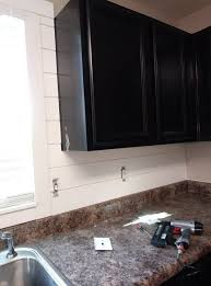kitchen backsplash ideas black cabinets diy shiplap kitchen backsplash a step by step guide
