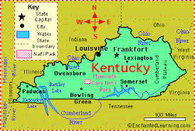 map kentucky lakes rivers kentucky facts map and state symbols enchantedlearning