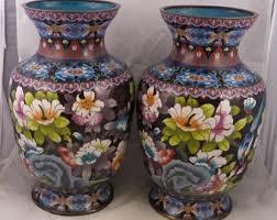 Large Chinese Vases Large Cloisonne Vase Etsy