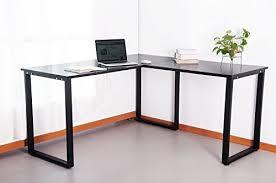 Quality Computer Desk Top Quality Merax 59 U201d L Shapped Desk With Metal Legs Office Desk