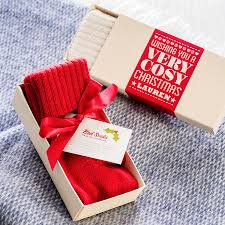 cosy christmas mohair or cashmere bed socks by quirky gift library