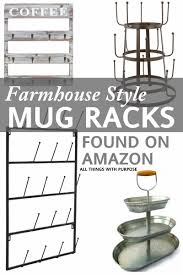 farmhouse style mug racks pallet wood wall mount and pallets