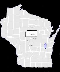 County Map Wisconsin by Buy Marathon County