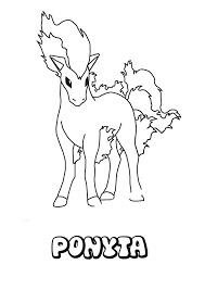 ponyta coloring pages hellokids