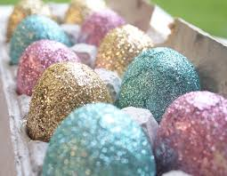 glitter easter eggs diy decorative glittered easter eggs