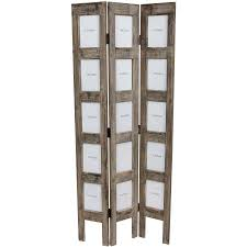 vintage room divider painted and family pictures display for