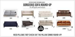 Sofa Round Remodelaholic Beautiful Sofas For Every Budget And Style