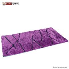 Thick Pile Rug Shaggy Rug Carpet Purple Carpet Deep Pile Different Sizes Ebay