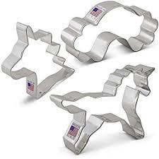unicorn cookie cutter set 3 unicorn