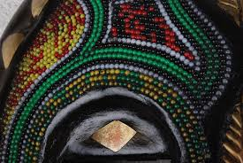 bead mask masks beaded ceremonial mask collection
