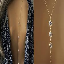 wedding backdrop necklace 2017 new women backdrop necklace gold color back