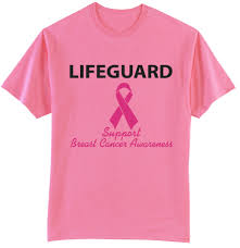 cancer awareness lifeguard t shirt