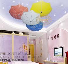 Children Bedroom Lights Modern Children Bedroom Ceiling Ls Multicolour Umbrella Glass