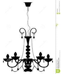Free Chandelier Clip Art Chandelier Lamp Outline Silhouette Royalty Free Stock Image