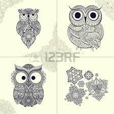 vector illustration of ornamental owl bird illustrated in tribal