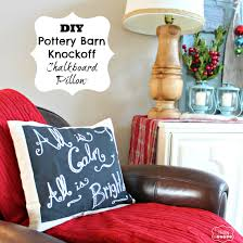 Knock Off Pottery Barn Furniture Diy Chalkboard Pillow Pottery Barn Christmas Knockoff The