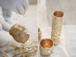 Gold Vases For Weddings Glitter Glam Diy Centerpieces By La Lune Events Glitter Vases