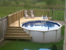 deck designs for above ground swimming pools backyard designs with