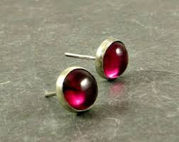 ruby stud earrings ruby stud earrings etsy