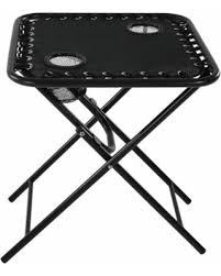 Folding Outdoor Side Table Get The Deal Sunnydaze Outdoor Folding Sling Side Table With Mesh